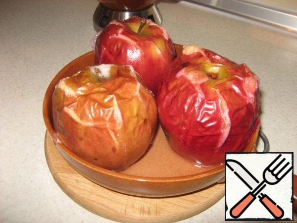 These are the apples turned out.