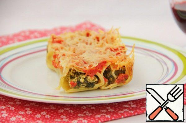 Cannelloni with Chicken and Spinach Recipe