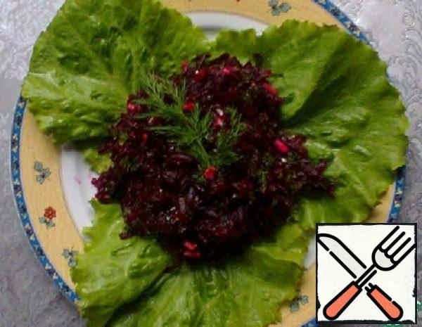 Beet Salad with Grape Seed Oil Recipe