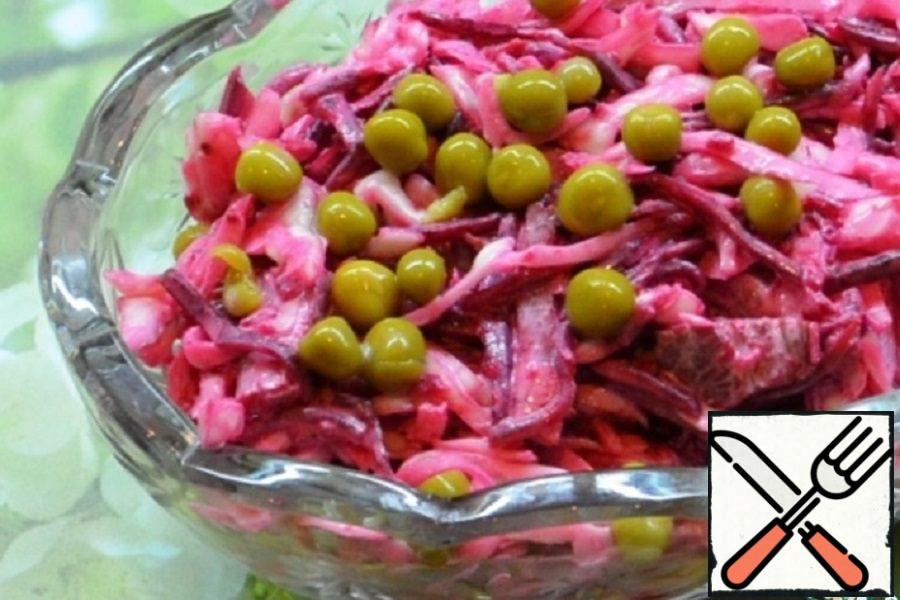 Beetroot, Cabbage and Beef Salad Recipe