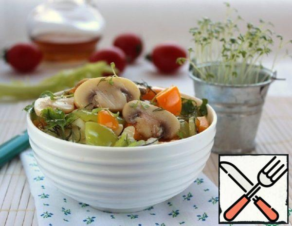 Mushrooms Salad Recipe