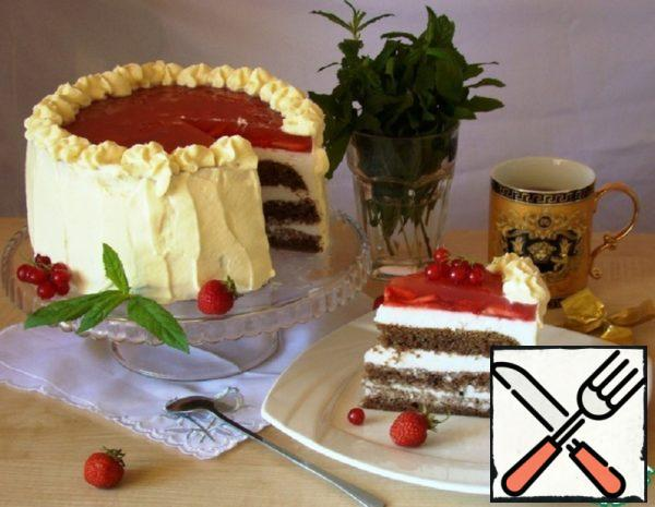 Cake with Marshmallow Cream Recipe