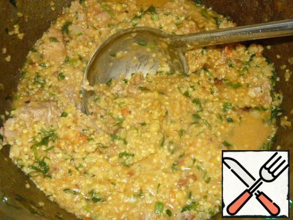 Stir again, wait 3 minutes, and porridge is ready!