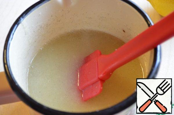 Hot puree with a dip blender and bring to a boil again over medium heat, after boiling boil for about 2-3 minutes. The container in which we boil cover with gauze or towel and leave until the next day (you need to withstand the melon 8-10 hours)