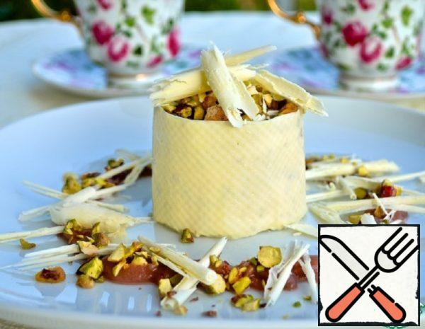 Pistachio Parfait with White Chocolate and Pear Sauce Recipe