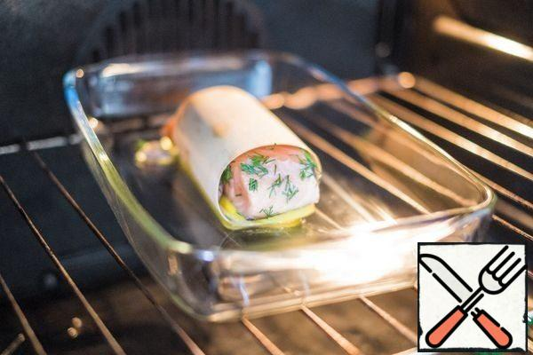 Place the rolls on a preheated pan or baking dish and place in the oven.
