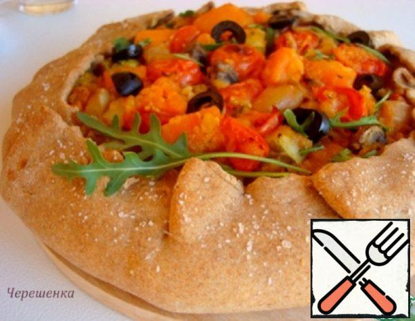 Buckwheat Galette with Lentils and Mushrooms Recipe