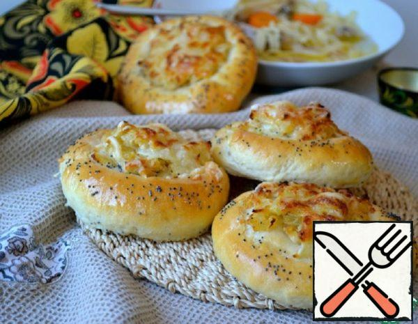 Cheese Buns with Onion Filling Recipe