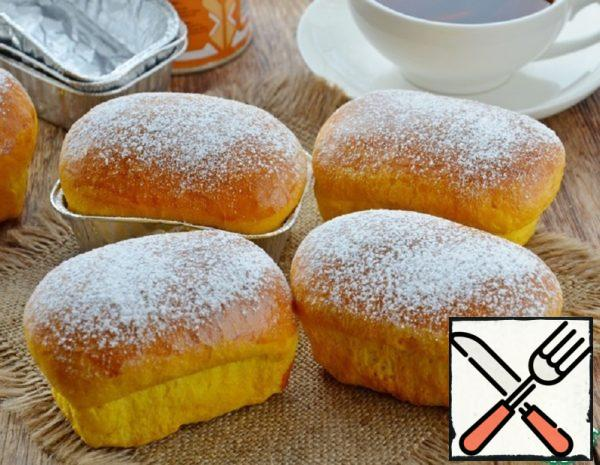 Pumpkin Buns with Boiled Condensed Milk Recipe