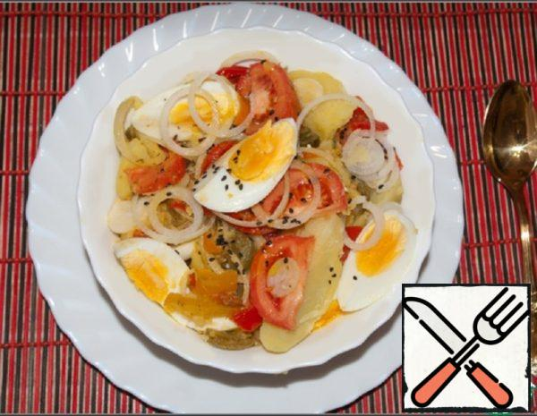 Potato Salad with Pepper and Mustard oil Recipe