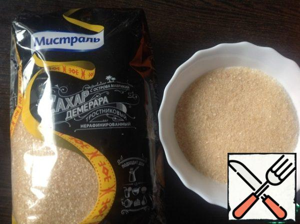 In a bowl, mix cane sugar, flour, salt.