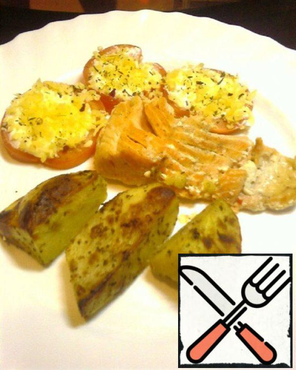 Grilled Trout with Garnish Recipe