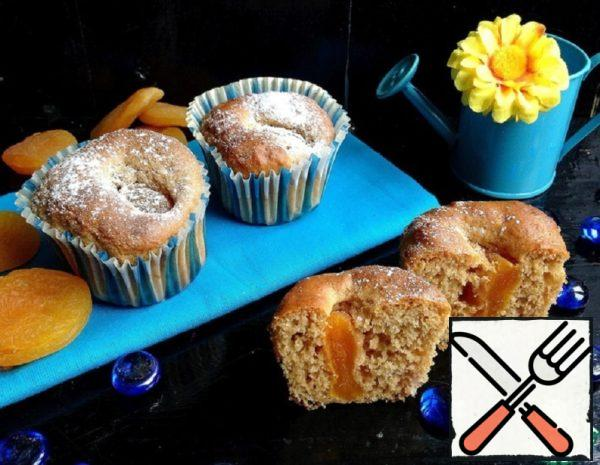 Muffins on Condensed Milk with Dried Apricots Recipe