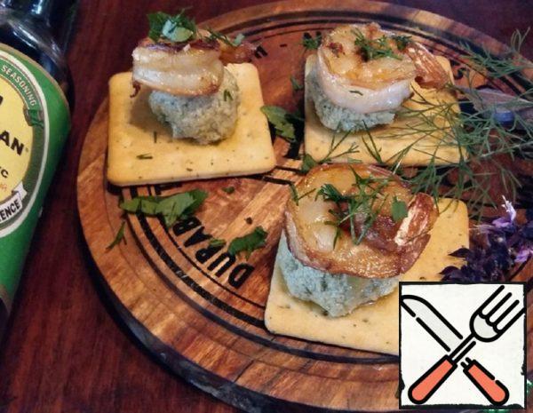 "Snacks ""Galettes with Shrimp"" Recipe"