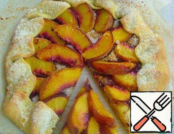 Corn Galette with Peaches Recipe