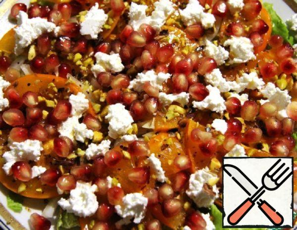 Winter Salad with Persimmon and Pomegranate Recipe