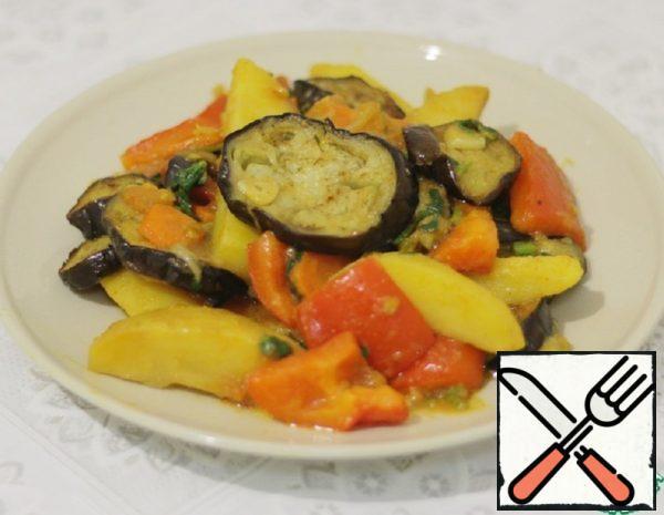 Potato with Eggplant Recipe