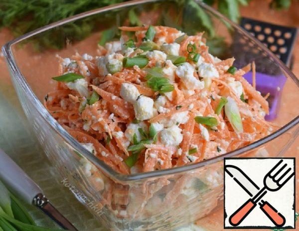 Salad with Carrots and Cottage Cheese Recipe