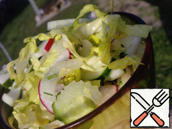 "Salad ""Green Bouquet"" Recipe"