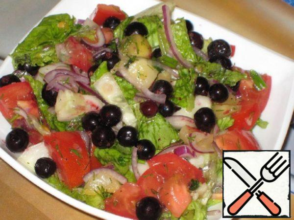 "Salad ""Summer"" with Black Currant and Pineapple Recipe"