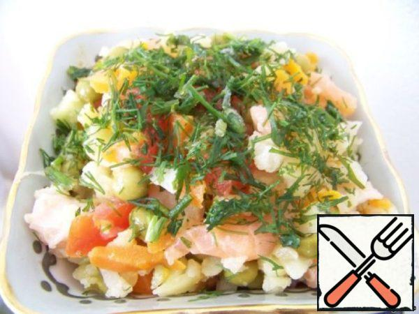 "Salad ""Golden Fish"" Recipe"