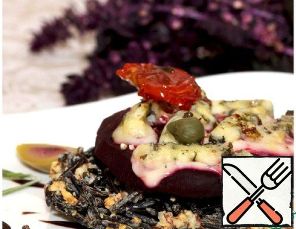 Rice-Almond Galette with Beetroot and Cheese Recipe