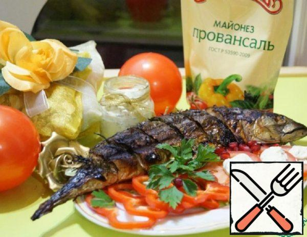 Grilled Mackerel with white Sauce Recipe
