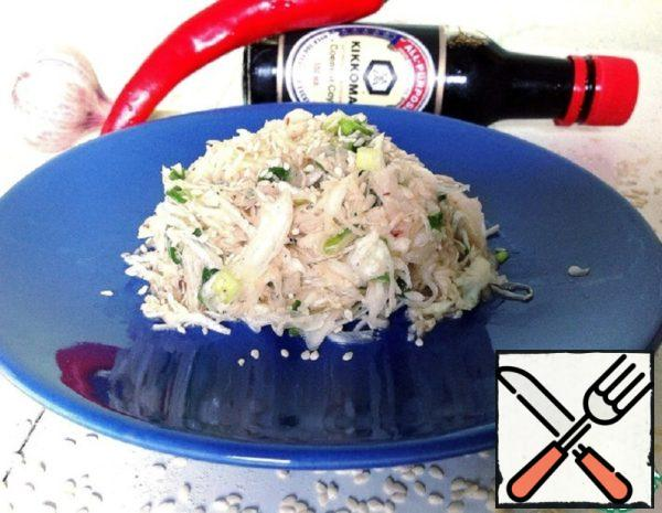 """Salad with Cabbage """"Acute"""" Recipe"""