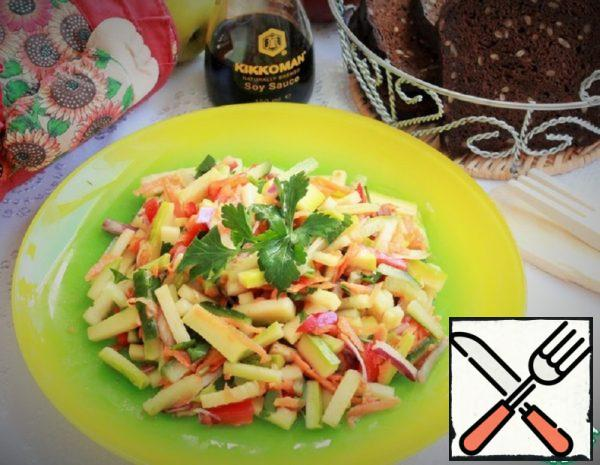 Vegetable Salad with Courgettes Recipe