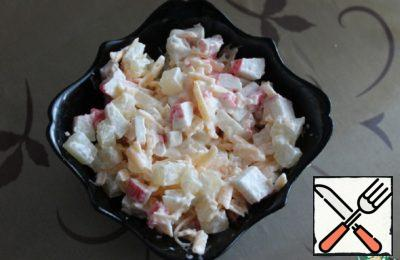 Salad with Crab Sticks Recipe