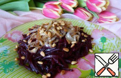 Beetroot, Onion and Pine Nut Salad Recipe