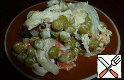 Marinated Chicken Salad with Green Peas Recipe