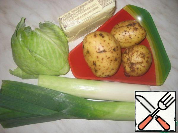 Boil the potatoes, make mashed potatoes ( who as used to, who as you like)