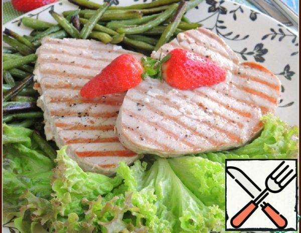 Grilled Tuna with Green Beans Recipe