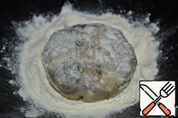 Roll each cutlet in flour.