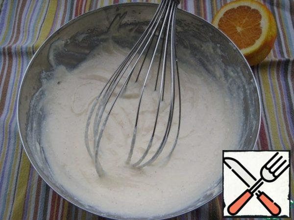 Filling: cut vanilla pod, scrape vanilla seeds with a sharp knife. Mix with a whisk cottage cheese, egg, vanilla seeds ( or vanilla), sugar, orange slices squeeze the juice, add to the filling.