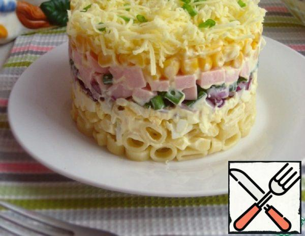 Salad with Noodles and Ham Recipe
