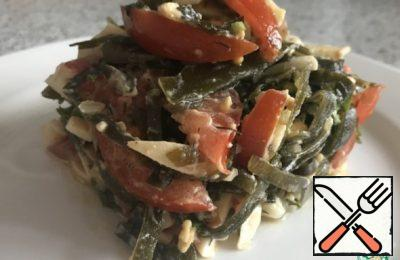 Salad with  Sea Cabbage Recipe