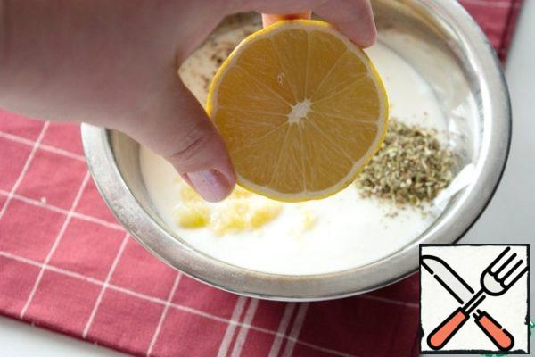 Add lemon juice. And if you want a pinch of lemon zest.