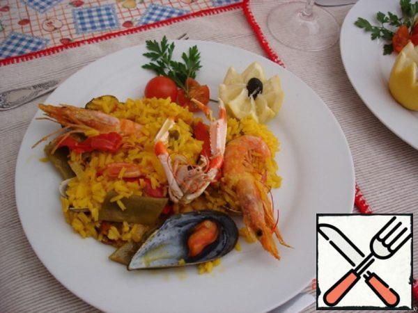 Paella with Seafood Recipe