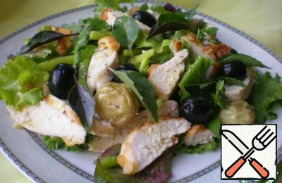 Warm Chicken and Vegetable Salad Recipe