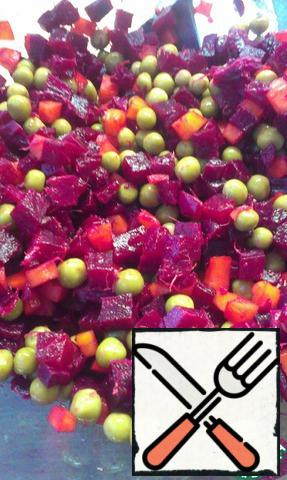 Add the peas.