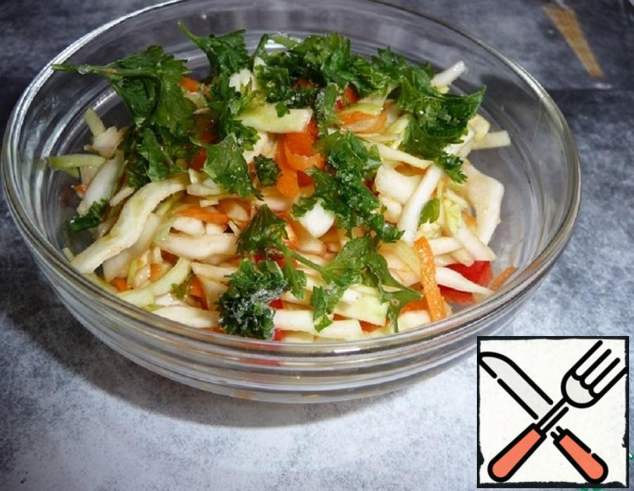 Salad Snack From Fresh Cabbage Recipe With Pictures Step By Step Food Recipes Hub