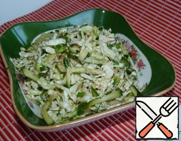 The Chinese Cabbage Salad with Cucumber Recipe