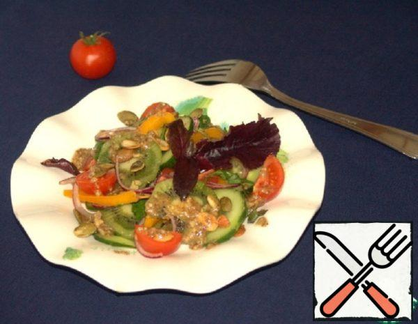 Vegetable Salad with Kiwi Recipe