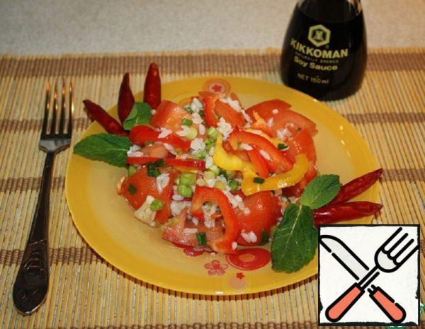 Tomato Salad with Rice Recipe