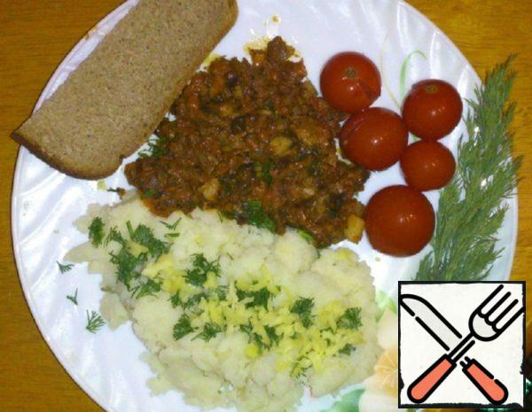 Mashed Potatoes with Stew Recipe