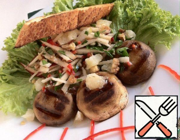 Salad with Apple, Mushrooms and Parmesan Recipe
