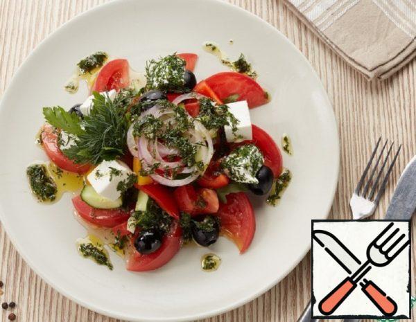 Greek Salad with Original Dressing Recipe