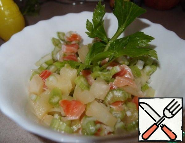 Celery Salad with Pineapple and Salmon Recipe